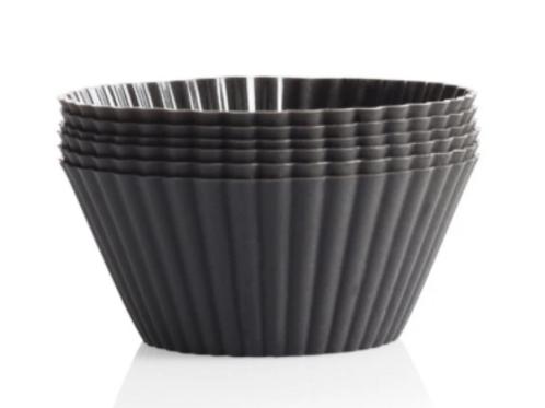 Silicone Muffin Cup Set - Graphite