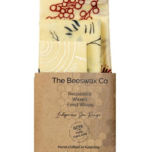 Beeswax Wraps - Set of 3 Indigenous Geo Range