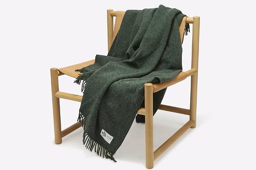 Recycled Woollen Blanket - Pine