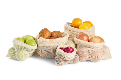 Organic Mesh Produce Bags - Set of 5