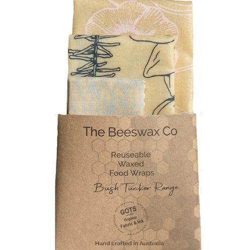 Beeswax Wraps - Set of 3 Bush Tucker Range
