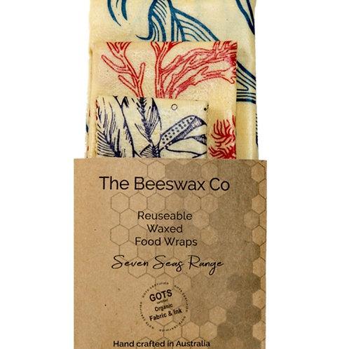 Beeswax Wraps -Set of 3 Seven Seas Range