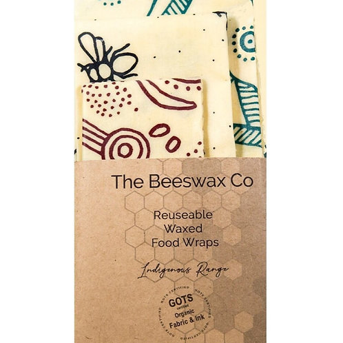 Beeswax Wraps - Set of 3 Indigenous Range