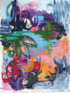 Götterfunken 2.0, 210 x 190 cm, Acryl/Le