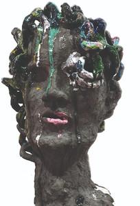 Keramik Kopf Medusa hinten