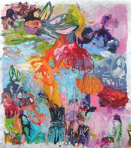 Götterfunken 2.0, 230 x 210 cm, Acryl/Le