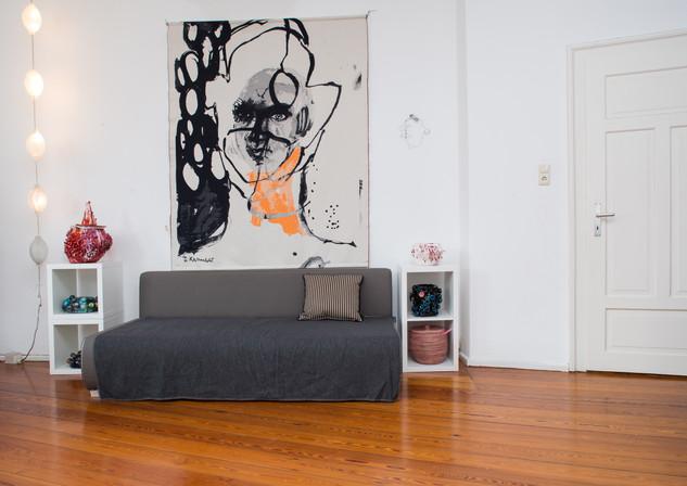 Wandteppich schwarz Größe