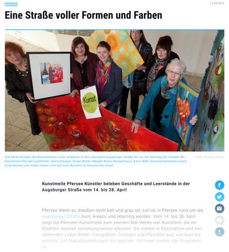 Presse Pfersee Kunstmeile