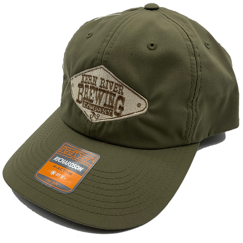 Olive Green Embroidered active hat