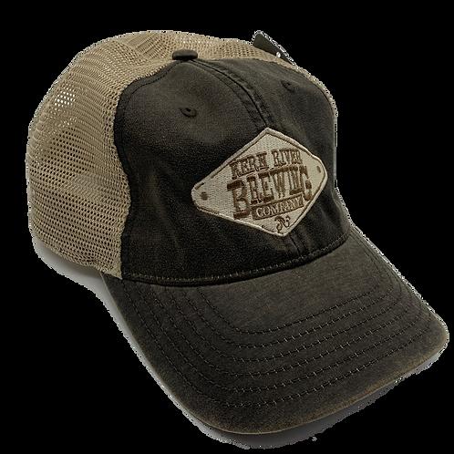 Brown/khaki Embroidered logo hat