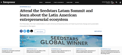 Attend the Seedstars Latam Summit and le