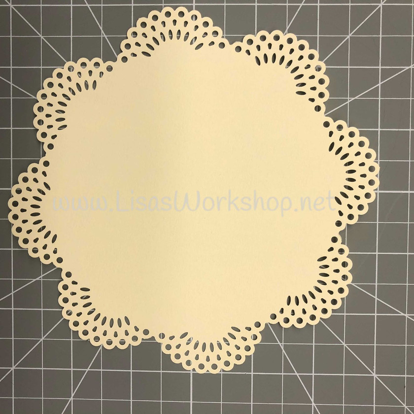 Cut 2 circles using the Ornate Arches Circle Punch from the Cream Cardstock in the ThankFULL Kit