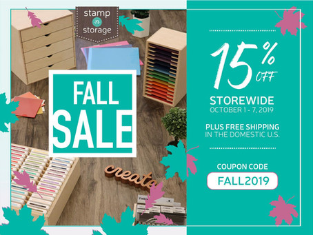 15% OFF Sitewide AND Free Shipping at Stamp-n-Storage!