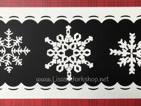 Snowflakes made with the CM Border Maker System