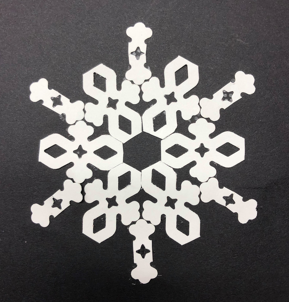 Snowflake made with the CM Border Maker System
