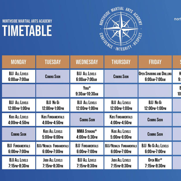 Timetable Oct 2020