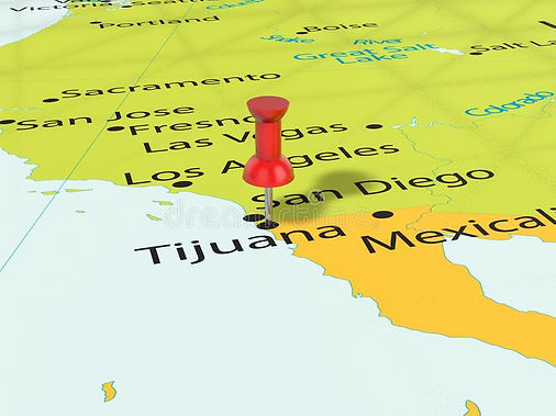 pushpin-tijuana-map-background-d-illustr