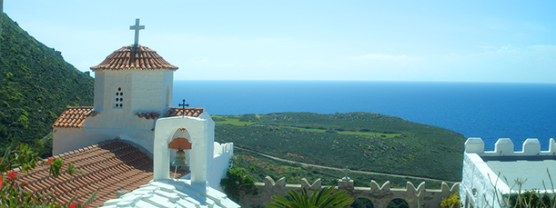 View to the sea from Evangelismos