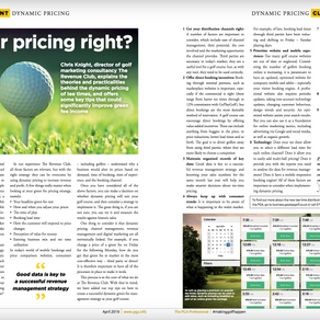 How can a golf club use dynamic pricing to increase green fee sales...