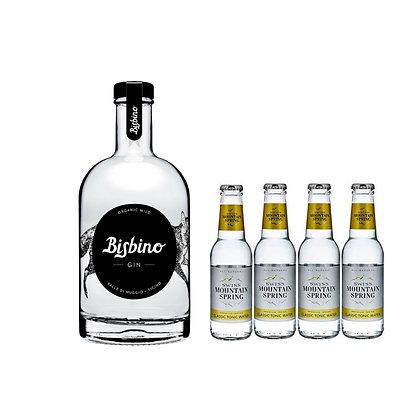 Bisbino Organic Gin inkl. 4 Swiss Mountain Tonic