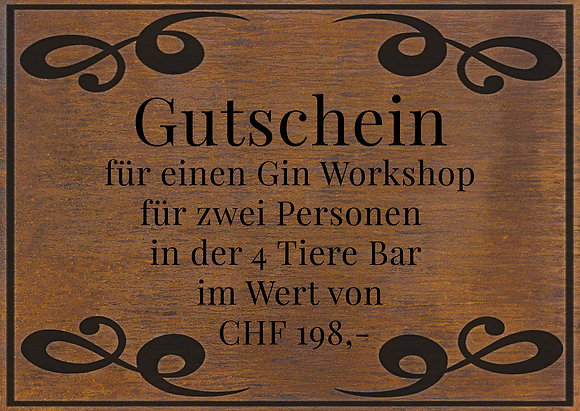Gin Workshop für 2 Personen