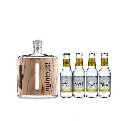 nginious! Smoked & Salted Gin inkl. 4 Swiss Mountain Tonic
