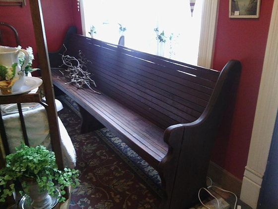 9' Walnut Church Pew