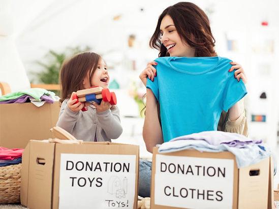 donate declutter stuff no tears foundation