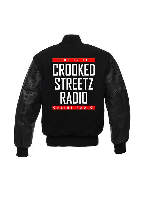 Crooked Streetz Radio Varsity Jacket