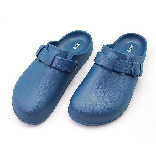 樂活包頭室外拖鞋-藍