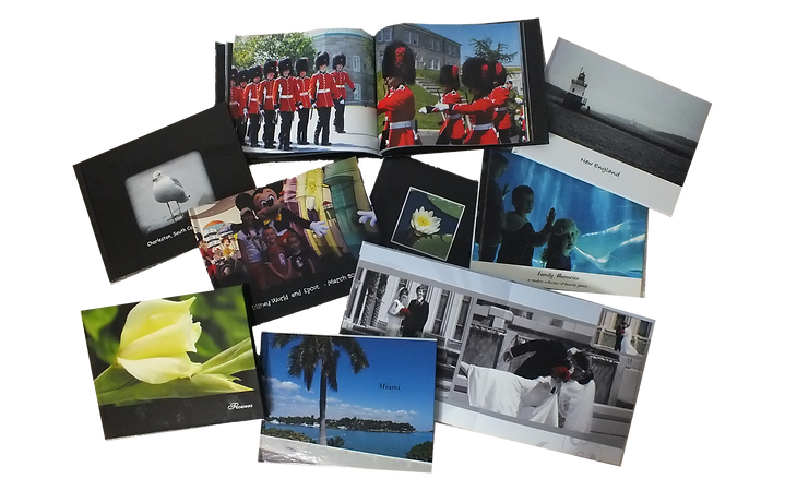 Custom designed photobooks