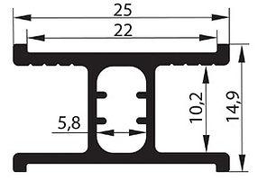Горизонт радиусный средний (верхний) (6,