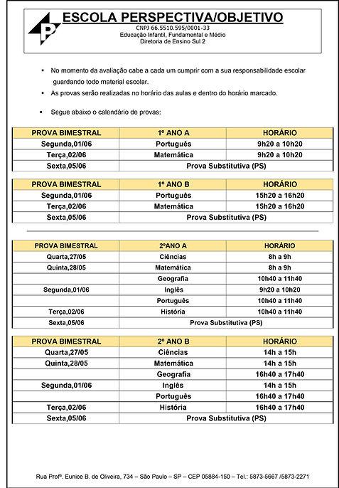 1 - COMUNICADO 19-05-20 FUNDAMENTAL 1 -