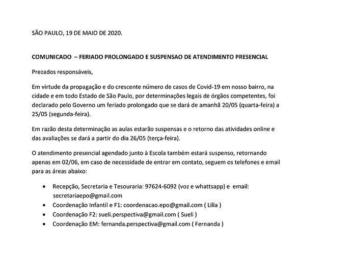 COMUNICADO 19-05-20 EDUCAÇÃO INFANTIL_JP