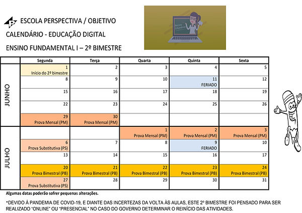 3 - CALENDARIO FUNDAMENTAL I - 1 e 2 BIM