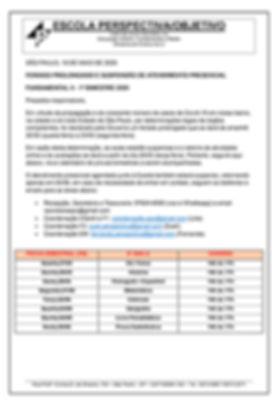 COMUNICADO 19-05-20 FUNDAMENTAL 2 - 6 a