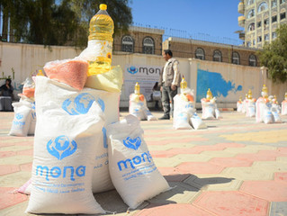 Food distribution for 300 families in Sana'a