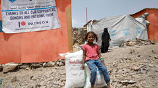 65 families at al-Azaraqeen displaced camp in Sana'a receive food supplies for the fifth round