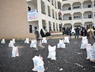 180 displaced and vulnerable families received food baskets in Sana'a