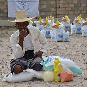 550 families in Hajjah receiving food baskets
