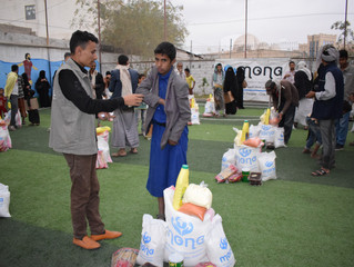 150 families received food aid baskets in Sana'a