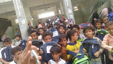 500 school backpacks delivers to students in Hodeidah governorate in Western Yemen