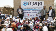 400 school backpacks delivers by Mona Relief in Sana'a