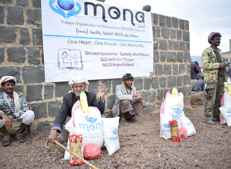 Mona Relief  delivered 100 families in Sana'a food aid baskets
