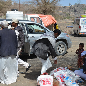 Food Baskets delivered to IDPs in Amran