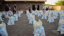 Mona Relief distributes 500 food baskets in Seham area of al-Haymah al-khargia district of Sana'a