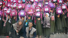 350 school backpacks more delivered by Mona Relief in Sana'a
