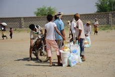 151 food aid baskets delivered to families in Hajjah funded Humanity First in UK