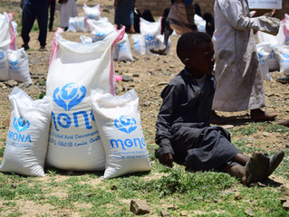 120 displaced families in Sana'a received food baskets