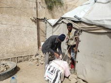 Mona Relief delivered 555 blankets funded by Partners and Karmagawa